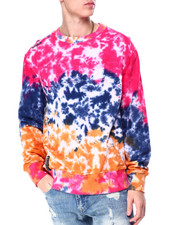 Holiday Shop - Pink Tie Dye Logo Crewneck Sweatshirt-2424718