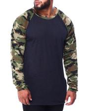 Buyers Picks - Raglan Slub All Over Printed Sleeves Tee (B&T)-2426375