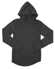 Tops - 2-Tone Thermal Pullover Hoodie W/ Kangaroo Pocket (8-18)-2426044