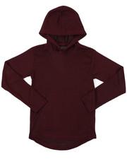 Tops - 2-Tone Thermal Pullover Hoodie W/ Kangaroo Pocket (8-18)-2426049