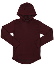 Boys - 2-Tone Thermal Pullover Hoodie W/ Kangaroo Pocket (8-18)-2426049