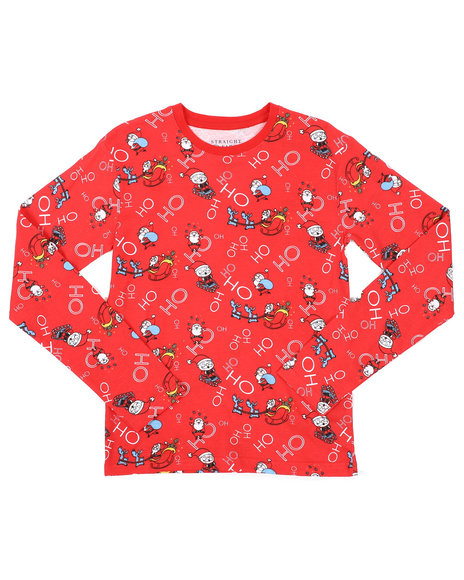 Arcade Styles - Holiday Printed Long Sleeve Tee (8-18)
