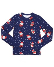 Ugly Christmas Shop - Holiday Printed Long Sleeve Tee (8-18)-2426069
