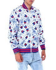 Champion - SATIN BASEBALL JACKET ALL OVER GRAPHIC-2426609