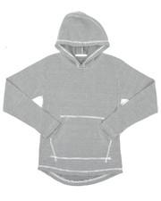 Tops - 2-Tone Thermal Pullover Hoodie W/ Kangaroo Pocket (8-18)-2426448