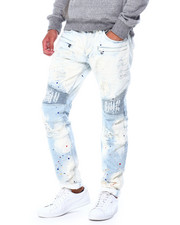 Makobi - Biker Jeans w Paint Spots-2426500