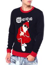Ugly Christmas Shop - YO HO HO SANTA UGLY XMAS SWEATER-2426569