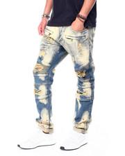 Makobi - Biker Jeans w Paint Spots-2426510