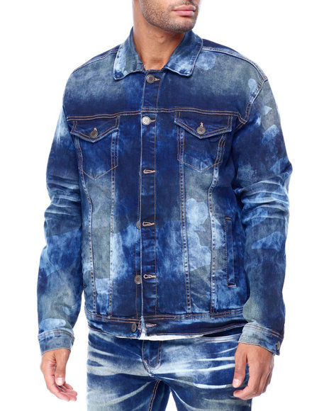 Copper Rivet - Camo washed Denim Jacket