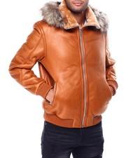 Heavy Coats - Pebble Grain PU Jacket w Faux Fur Hood-2426925
