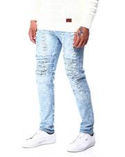 Jeans & Pants - Slim Straight Acid Wash Paint splatter Stretch Jean-2427187