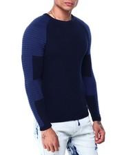 Sweatshirts & Sweaters - LS Ribbed Raglan Moto Sleeve knit-2427753