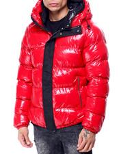 Heavy Coats - Glazed Nylon Puffer Coat w Hood-2427596