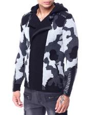 Sweatshirts & Sweaters - Moto Camo PU Sweater-2427953