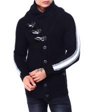 Sweatshirts & Sweaters - side Stripe Shawl Collar Cardigan-2427923
