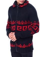 Sweatshirts & Sweaters - Zip Jacquard Pattern Sweater-2427282