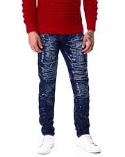 Men - Slim Straight Acid Wash Paint splatter Stretch Jean-2427244