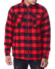 Buyers Picks - Buffalo Plaid Fleece Lined Jacket-2427665