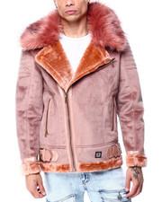 Heavy Coats - Bonded suede Moto Jacket-2427602