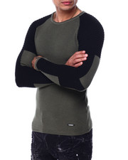 Buyers Picks - LS Ribbed Raglan Moto Sleeve knit-2427748