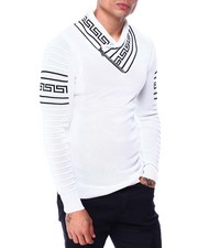 Buyers Picks - Greek Key Shawl Collar Ls Knit-2427898