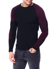 Buyers Picks - LS Ribbed Raglan Knit Moto Sleeve-2427763