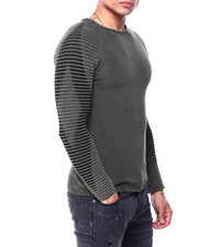 Buyers Picks - Ls Ribbed Raglan Knit with Diamond illusion sleeve-2427773