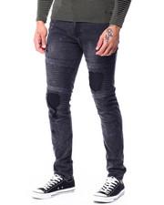 Jeans & Pants - Black Acid Rinse Moto Jean-2427508