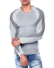 Buyers Picks - Ls Ribbed Raglan Knit with Diamond illusion sleeve-2427768