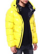 Heavy Coats - Glazed Nylon Puffer Coat w Hood-2427590