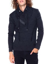 Buyers Picks - Shawl collar Neck Smoke Black Sweater-2428268