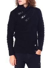 Buyers Picks - Buckle Toggle Shawl Collar Sweater-2428278