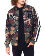 Parish - CAMO NYLON BOMBER JACKET-2428203
