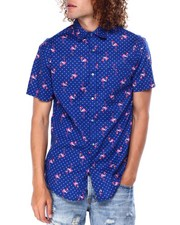 Mens-Holiday - Holiday Flamingo SS Buttondown shirt-2428228
