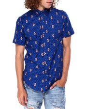 Mens-Holiday - Gingerbread MAn SS Buttondown Shirt-2428223