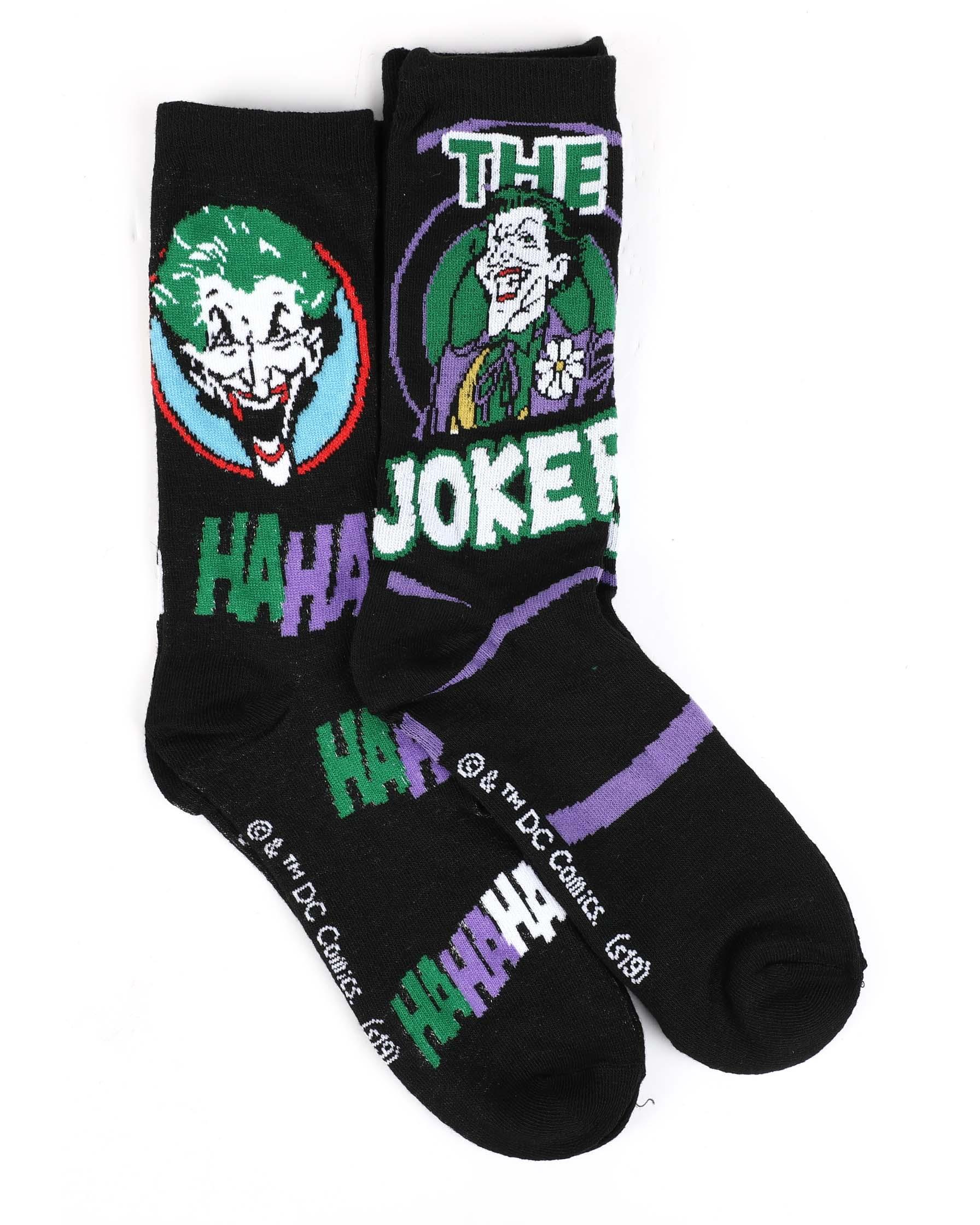Brand New Joker Black Crew Socks