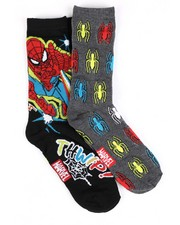 Men - Spiderman 2 Pack Crew Socks-2428447