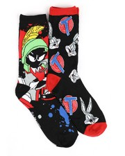 Men - Marvin The Martian 2 Pack Crew Socks-2428452