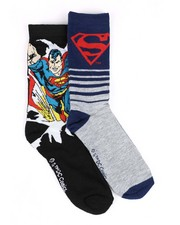 Men - Superman 2 Pack Crew Socks-2428446