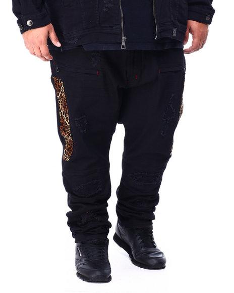 Makobi - Makobi Leopard Panel Jeans (B&T)