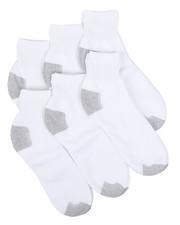 Socks - 6 Pk Quarter Socks-2428735