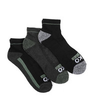 Men - 3 Pack 1/2 Cushion Quarter Socks-2429125