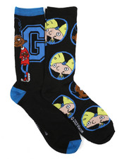 Buyers Picks - 2 Pack Gerald Hey Arnold Crew Socks-2429473