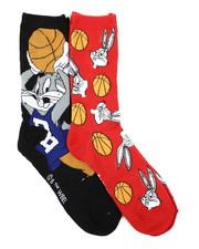Buyers Picks - 2 Pack Bugs Basketball Crew Socks-2429472