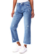 Boom Boom Jeans - Distressed Loose Straight Jean W/Fray-2425906