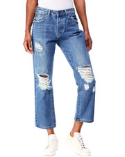Boom Boom Jeans - Ripped Knee Loose Straight Jean-2426312