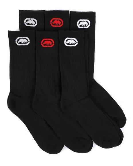 Ecko - 6 Pack 1/2 Cushion Crew Socks