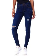 Jeans - Distressed Ripped Knee Skinny Jean-2425452