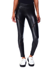 Boom Boom Jeans - 4 Way Stretch Vegan Leather Legging-2426307