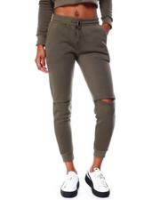 Bottoms - Slit Knee Drawstring Jogger-2426204